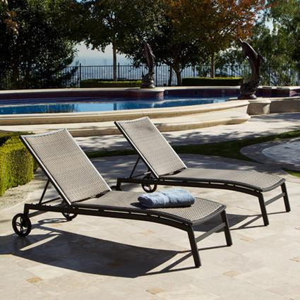 ZEN Chaise Lounger with Bolster Pillow (2 pack) Patio Furniture