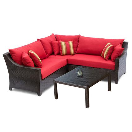 Cantina Wood Arc Hammock with Striped Polyspun Hammock Set with Bolster Pillow Patio Furniture