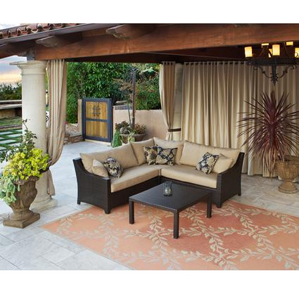Delano 4 pc Sectional Patio Furniture