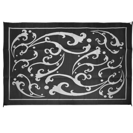 Vine 9' x 12' Patio Mats - Black