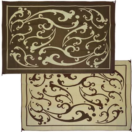 Vine 9' x 12' Patio Mats - Brown