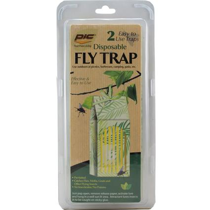 Disposable Fly Traps, 2- Pack
