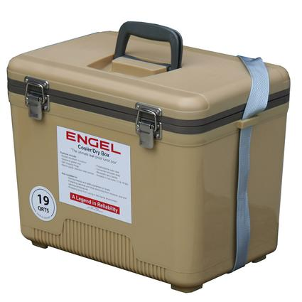 19 Qt. Cooler/Dry Box - Tan