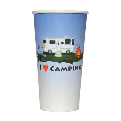 I Love Camping Cups, 12-Pack