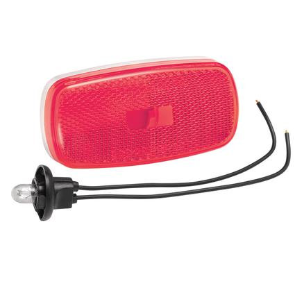 Clearance/Side Marker Lights #59 Series with Reflex Lens- Red