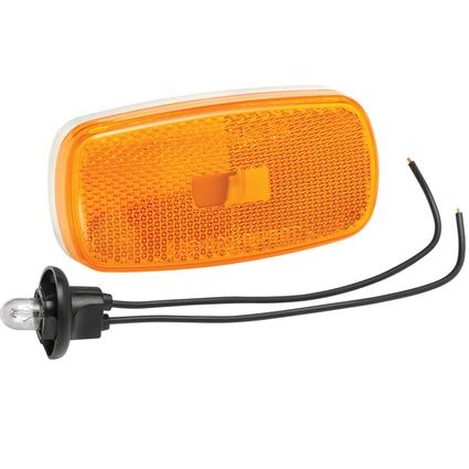 Clearance/Side Marker Lights #59 Series with Reflex Lens- Amber