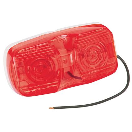 Dual Bulb Clearance/Side Marker Lights- Red