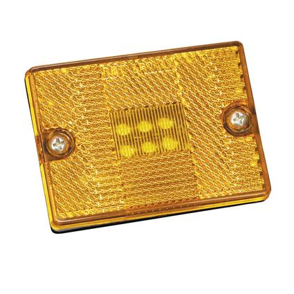 LED Clearance/Side Marker Lights #42 Series with Reflex Lens- Amber