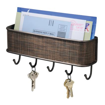 Wall Mount Mail/Key Rack- Bronze
