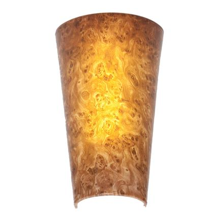 Wireless LED Wall Sconces- Burlwood