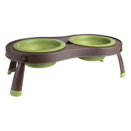 Collapsible Pet Feeder, Double Bowl