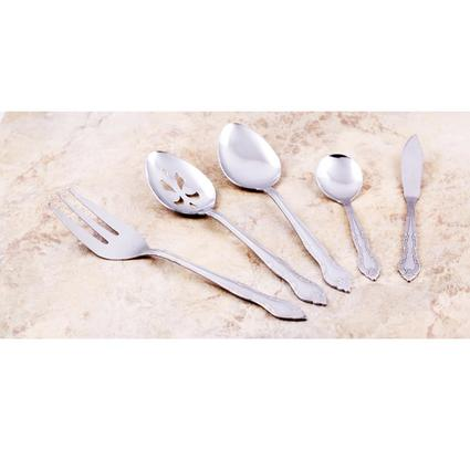 102-Piece Stainless Steel 18/0 Flatware and Serving Utensils Set-Classic Windsor Design