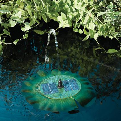 Solar Floating Lily Pad Fountain