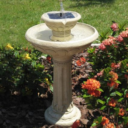 Kensington Two-Tier Solar-on-Demand Fountain