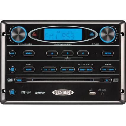 Jensen AM/FM/CD/DVD Wall Mount Radio