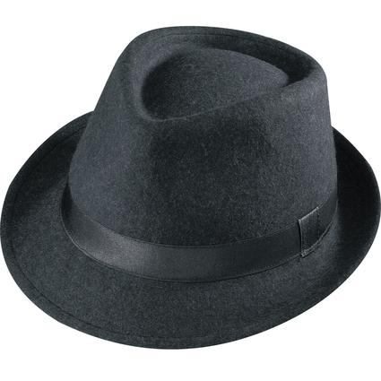 Gentleman Wool Hat- Black Large