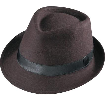 Gentleman Wool Hat- Brown Medium