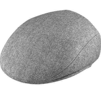 Herringbone Ivy League Cap- Gray Herringbone, X Large