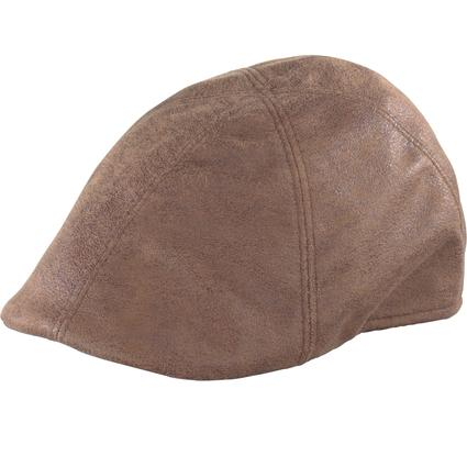 Distressed Duckbill Cap- Light Brown, X Large