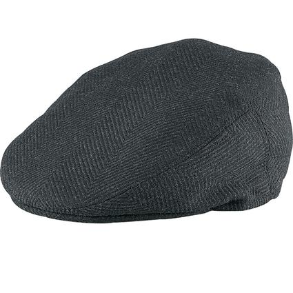 Italian Mohair Ivy League Cap- Black, X Large