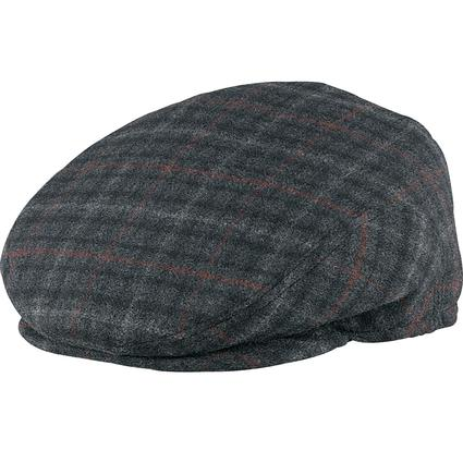 Italian Cashmere Ivy League Cap- Black Plaid, X Large