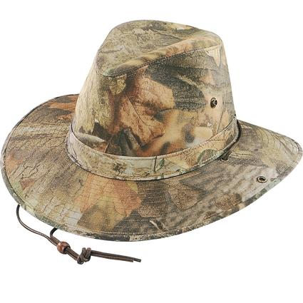 Camo Aussie Hat- Timber Camo, Small