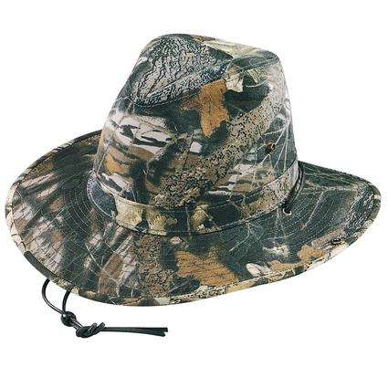 Camo Aussie Hat- Mossy Oak Camo, Medium