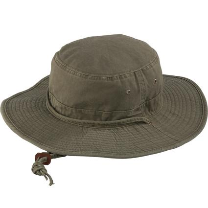 Washed Boonie Hat- Olive, Medium
