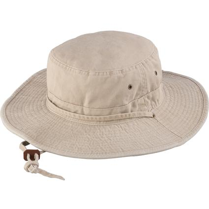 Washed Boonie Hat- Khaki, Large