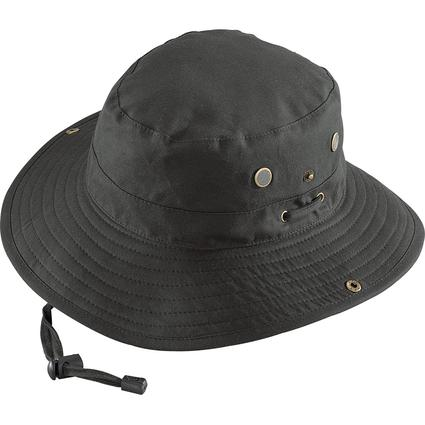 Oilcloth Crushable Expedition Hat- Black, X Large