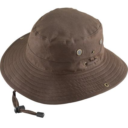 Oilcloth Crushable Expedition Hat- Brown, Medium