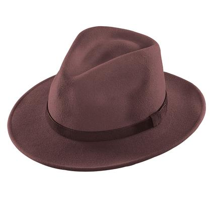 Outback Felt Hat- Brown, Medium