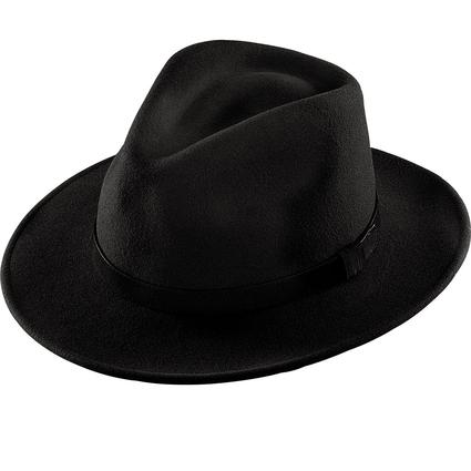 Outback Felt Hat- Black, X Large