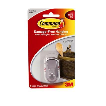 Command Accent Hook - Metallic