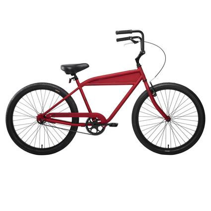 "Nirve B-1 Men's 26"" 1-Speed Bike- Matte Red"