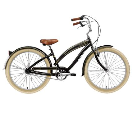 "Nirve Classic Women's 26"" 3-Speed Cruiser Bike, Gloss Black"
