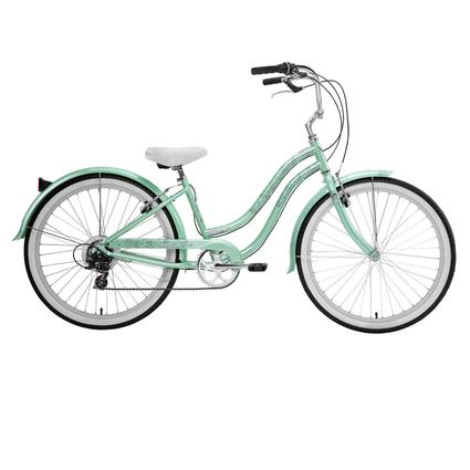 "Nirve Beach Blossom Women's 26"" 7-Speed Bike- Sea Foam Green"