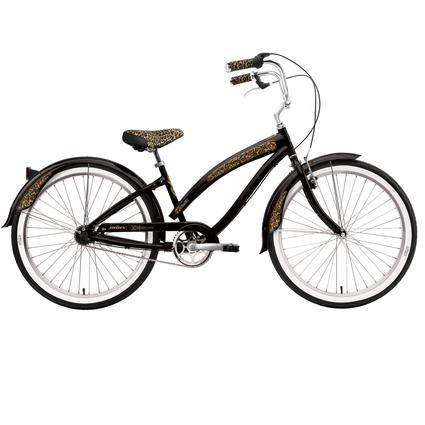 "Nirve Minx Women's 26"" 3-Speed Cruiser Bike, Gloss Black"
