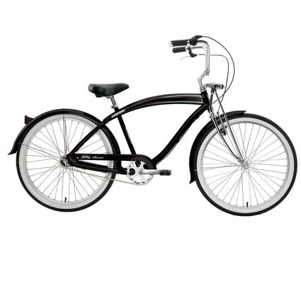 "Nirve Fifty-Three Men's 26"" 3-Speed Bike, Gloss Black"