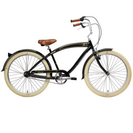 "Nirve Classic Men's 26"" 3-Speed Cruiser Bike, Gloss Black"
