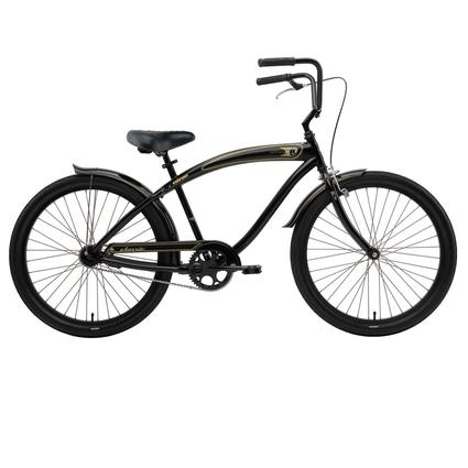 Nirve Men's Classic 1-Speed Cruiser Bike, Gloss Black