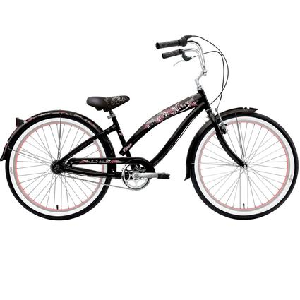 "Nirve Island Flower Women's 26"" 3-Speed Bike"
