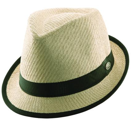 Matte Straw Fedora with Solid Band- Natural