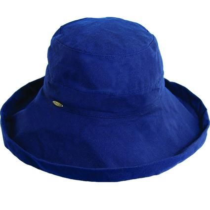 Wide Brim Cotton Hat- Navy