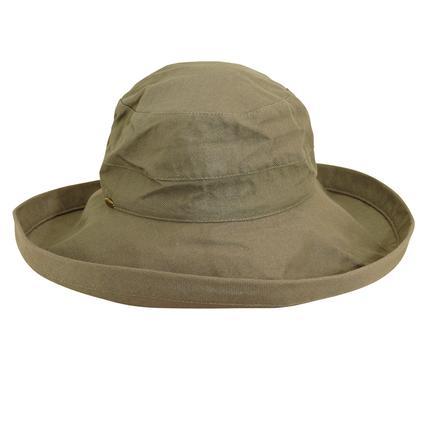 Wide Brim Cotton Hat- Olive