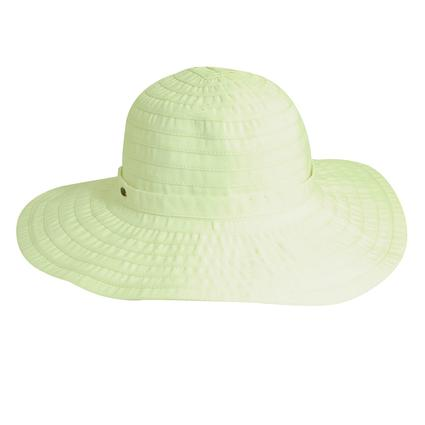 Cotton Ribbon Crusher Hat- White