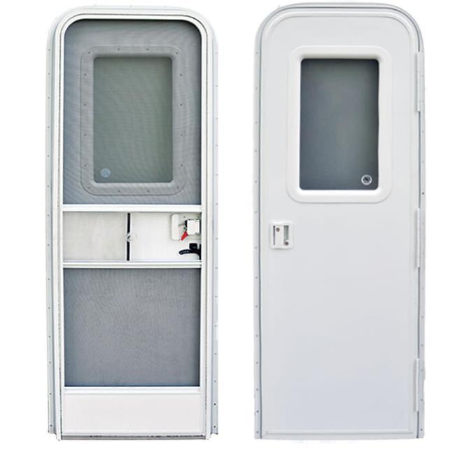 Image Replacement RV Entrance Doors Polar White Radius Corner Door Right Hand - 24 .  sc 1 st  C&ing World & Replacement RV Entrance Doors-24