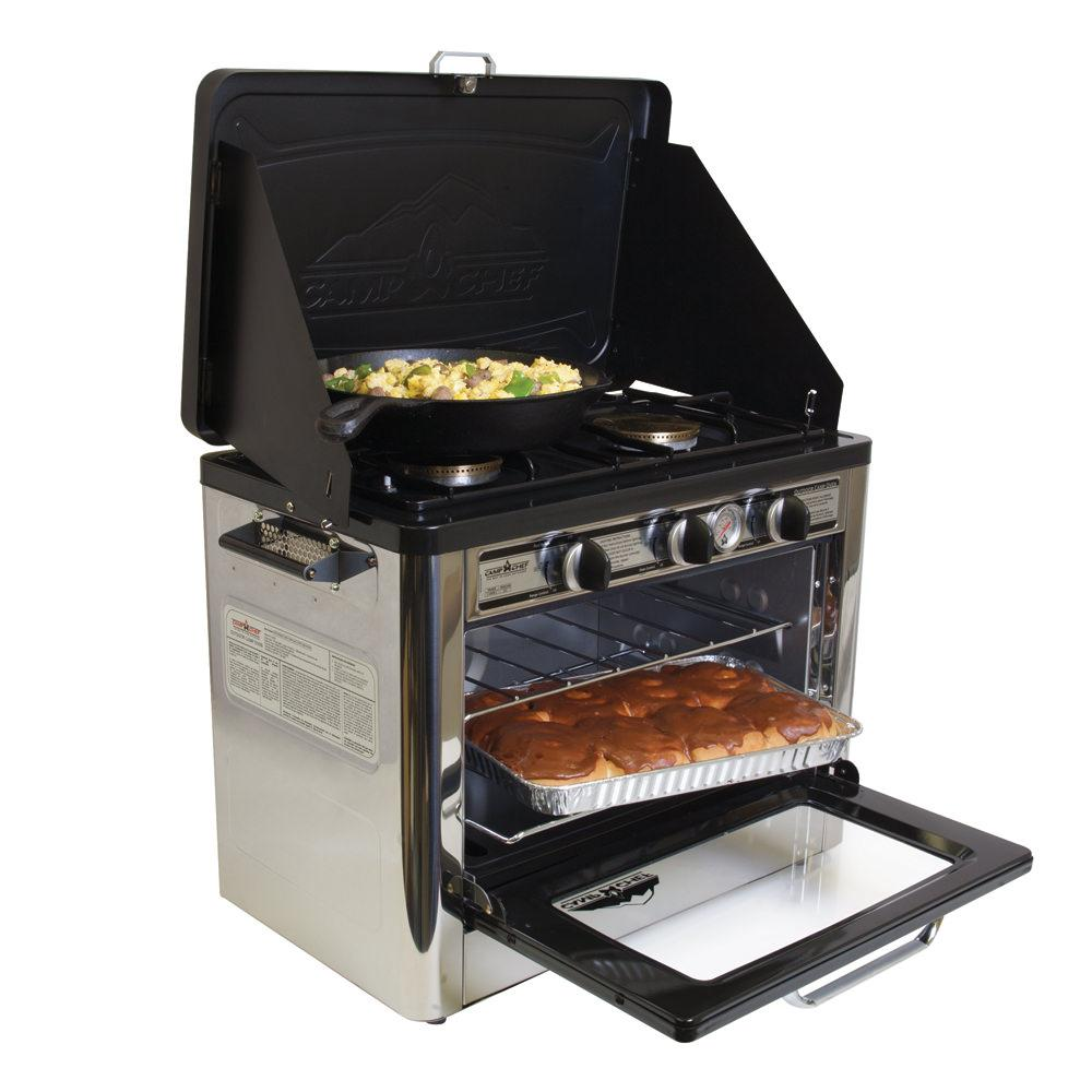 Outdoor Camp Oven 2 Burner Range And Stove Camp Chef