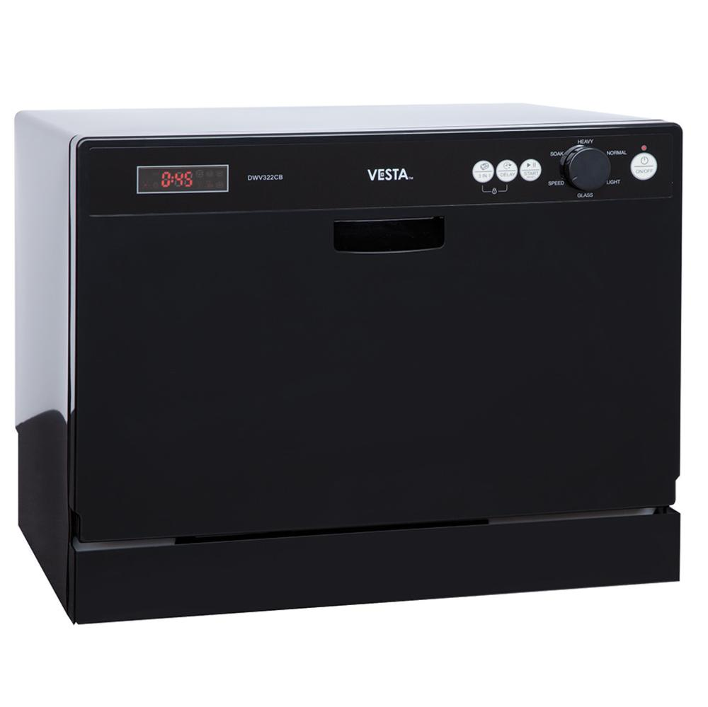 Countertop Dishwasher : VESTA Countertop Dishwasher - Westland DWV322CB - Dishwashers ...