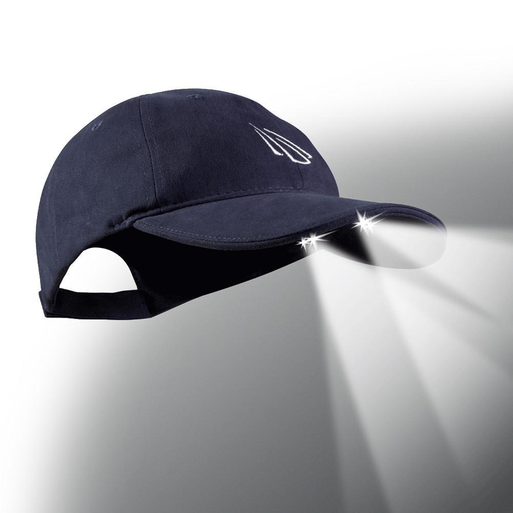 4 led baseball cap navy waters industries cub4 280629